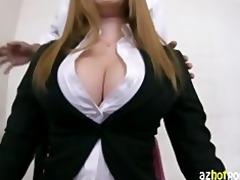 azhotporn.com - breasty office lady pov hardcore