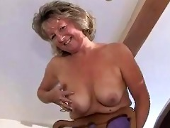 appealing granny in girdle and se...