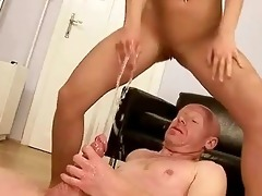 grandad fucking and peeing on youthful beauty