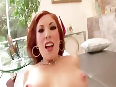 sexy redhead d like to fuck rides pecker for