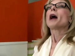 marvelous older secretary acquires tongued by