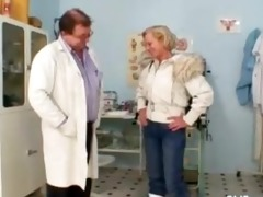 golden-haired granny multiple squirting during a