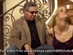 jessica drake lesbo belt on session in the stairs