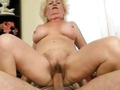 breasty grandma enjoying wicked sex