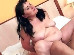 chubby granny enjoys naughty sex