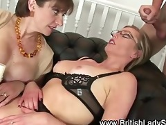 lady sonia and older ally fuck youthful lad and