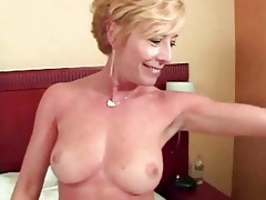 blond sexually excited older bitch gang banged