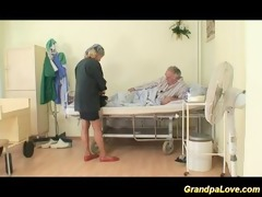 granddad babe fucking a worthwhile brunette nurse