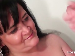 wicked cougar blows dick in close-up