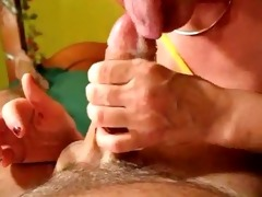 mamma slow sensual blow job and ball batter flow
