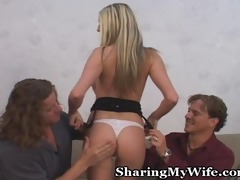 hot blond wifey with fresh boy
