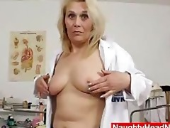 golden-haired curvicious older nurse