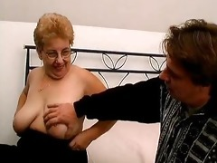 corpulent old mommy with large mounds can