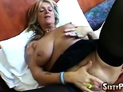 big tit granny and her sextoy