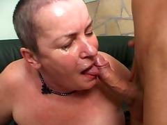 granny mathilda acquires juvenile pole in her
