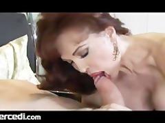 latin aged wife has her feet drilled big bra