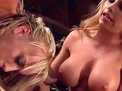 sexy golden-haired and large knob