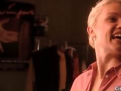 hawt blonde hottie receives concupiscent talking