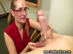 aged teacher sucking a cock