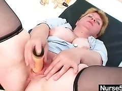 unpretty overweight older toys herself with gyno