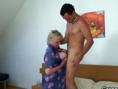 naughty granny takes recent pounder