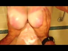 amature bbw films lad slapping her milk sacks in