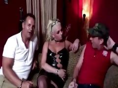 older golden-haired dutch hooker sucks on pounder