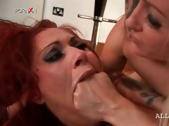 lesbian perverted whore receives wet crack fisted