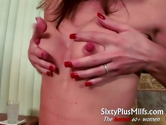 concupiscent aged wife gives perverted solo