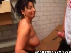 mature non-professional wife homemade anal with