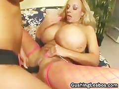 mature lesbo doxy receives screwed with