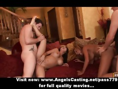 swinger party with breasty wives drilled hard and