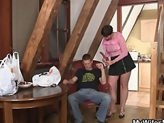 wicked mother in law jumps on his dick