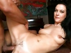 tanned dark brown mother i receives her shaved