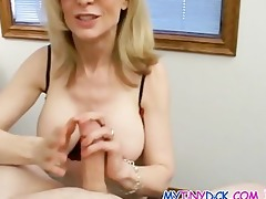 nice-looking golden-haired milf with an apetite
