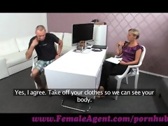 femaleagent. mutual masturbation on casting daybed