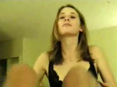 wife in dark pants sucks and drinks anything
