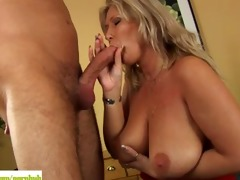 breasty aged blond sandy drilled hard