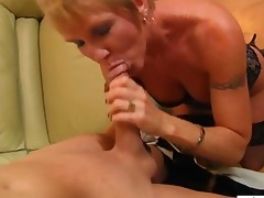 concupiscent granny loves facual cumshots