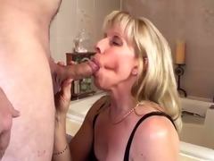 boy cums twice during a blow-job