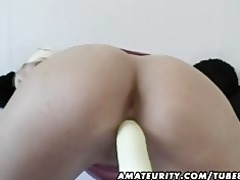 breasty dilettante milf toys and sucks with
