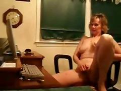 aged woman rubs her clitoris