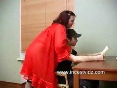 golden-haired mommy seduces her son