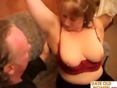 old chap and old woman have a hardcore fucking