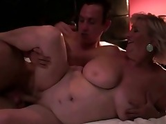 breasty plump grandma enjoys sex with a chap