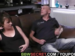 wife catches her hubby with big beautiful woman