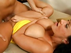 agreeable brunette hair d like to fuck with large