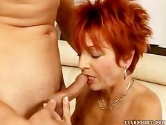 hot euro redhead granny