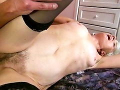 granny enjoys naughty sex with juvenile guy