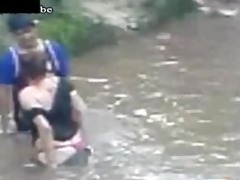 drunk d like to fuck copulates a chap in the river